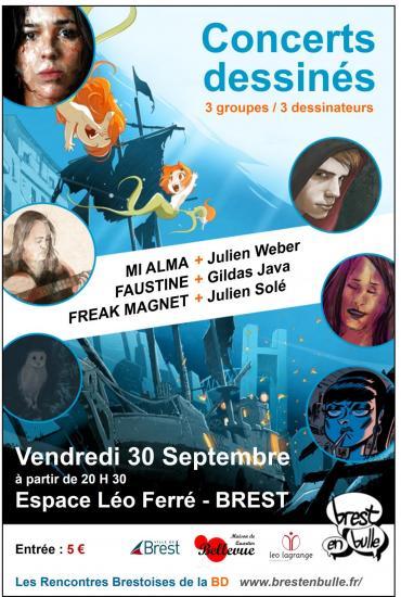 Flyer concerts dessin s recto